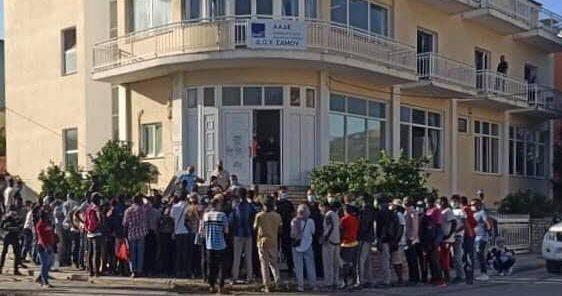 Κατάληψη της ΔΟΥ Σάμου από αλλοδαπούς | Samos Voice